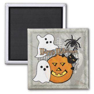Bump in the Night Halloween Fridge Magnet