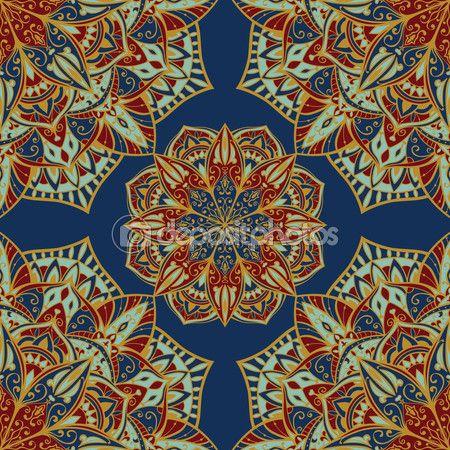 Шаблон для ковров — стоковая иллюстрация #79030036
