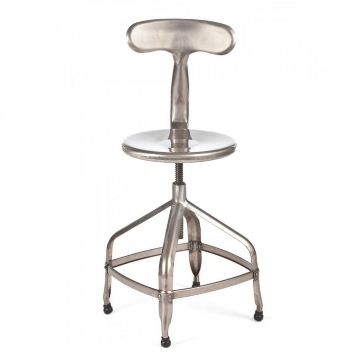 Nicolle metal finish Swivel Stool with back. Dimensions W36cm depth 36cm x Seat  sc 1 st  Pinterest & 22 best Seating. Sofau0027s chairs stools. images on Pinterest ... islam-shia.org