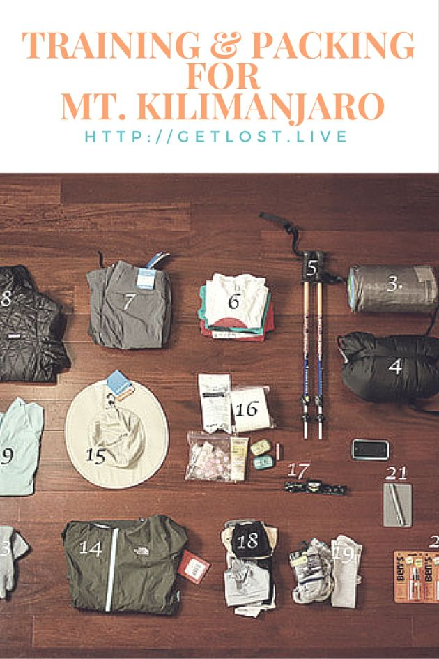 Training and Packing List for Mount Kilimanjaro. http://getlost.live