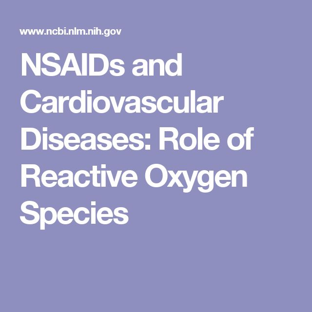 NSAIDs and Cardiovascular Diseases: Role of Reactive Oxygen Species