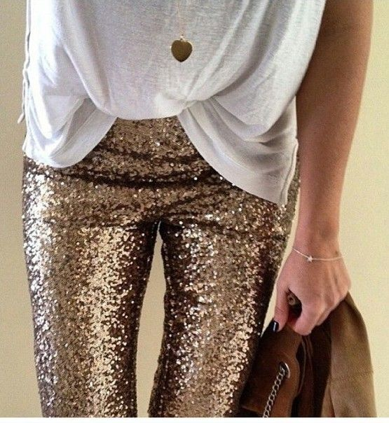 Shop funny sequined ripped jeans