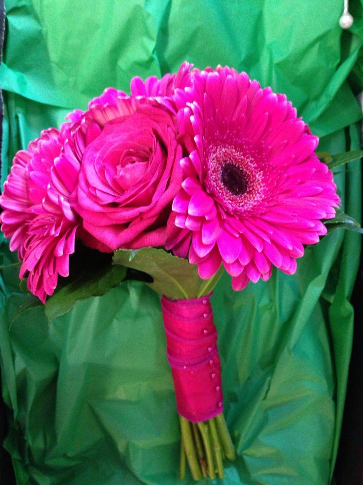 Cerise bridesmaids bouquet