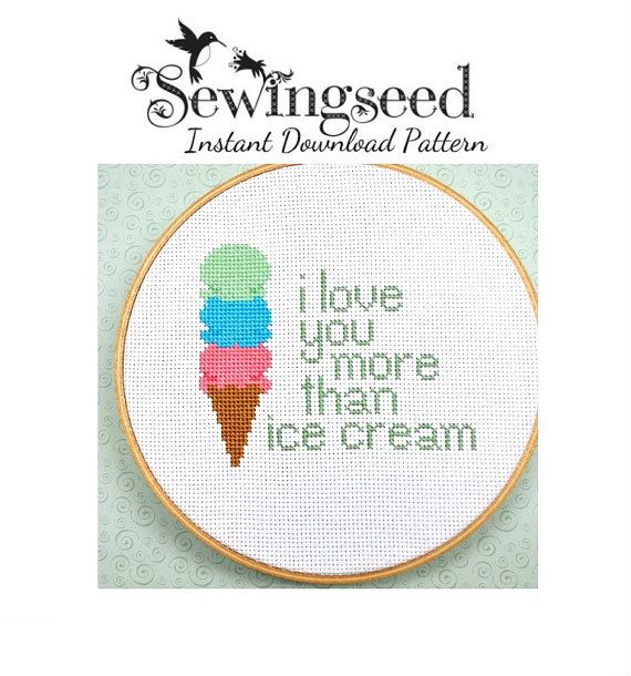 I Love You More Than Ice Cream: 42 Best Images About Hand Embroidery On Pinterest