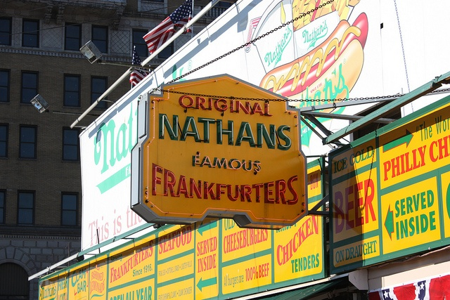 Nathan's for lunch. #ArmitronMakeTime