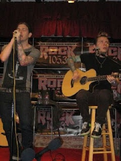 Brent Smith and Zach Myers at Rock 105.3 Acoustic show in San Diego, CA