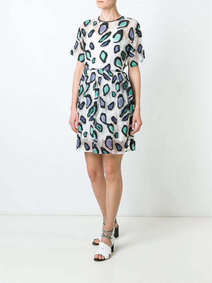 ¡Cómpralo ya!. Msgm Vestido De Jacquard De Leopardo. Vestido de jacquard de leopardo multicolor de MSGM. , vestidoinformal, casual, informales, informal, day, kleidcasual, vestidoinformal, robeinformelle, vestitoinformale, día. Vestido informal  de mujer color negro de MSGM.