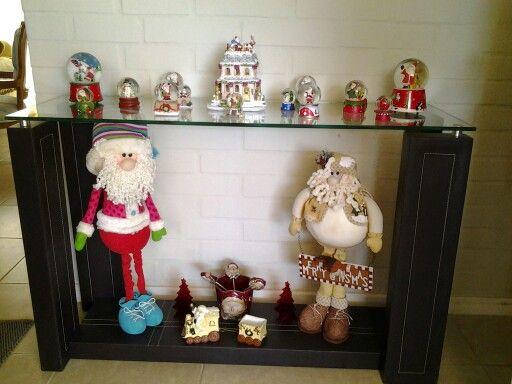 Mesa arrimo navideña