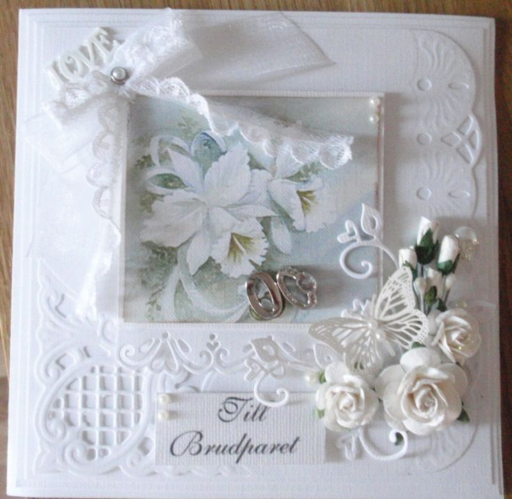 Lenas papperspyssel: Ett bröllopskort