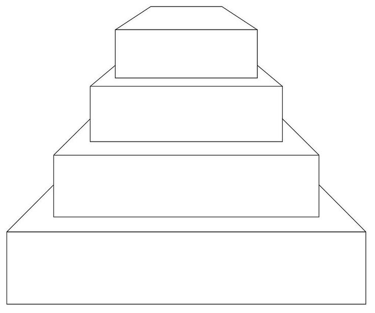 how to make a 4 tier square wedding cake 4 tier square on view cake stencils amp templates 15788