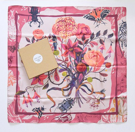 Limited Edition Printed Silk Scarf / The Littlest by Vodarna