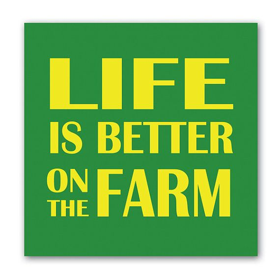 Life is Better on the Farm Wall Art  - John Deere Canvas Art  - Abstract Art - Modern Art - Canvas Prints - Posters - Contemporary Art via Etsy