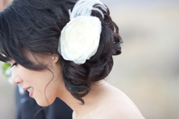 #hairstyles  Photography: Birds of a Feather - birdsofafeatherphoto.com Design, Stationery, Decor: Aileen Cheng - aileencheng.com Coordination: The Bride Concierge - thebrideconcierge.com  Read More: http://www.stylemepretty.com/2013/03/01/modern-palm-springs-wedding-from-birds-of-a-feather/