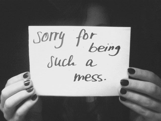apologize when really messed