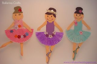 Craft time anyone?     My daughter and I made some adorable ballerinas today and I thought I would show you how to make some too!  Supplies ...