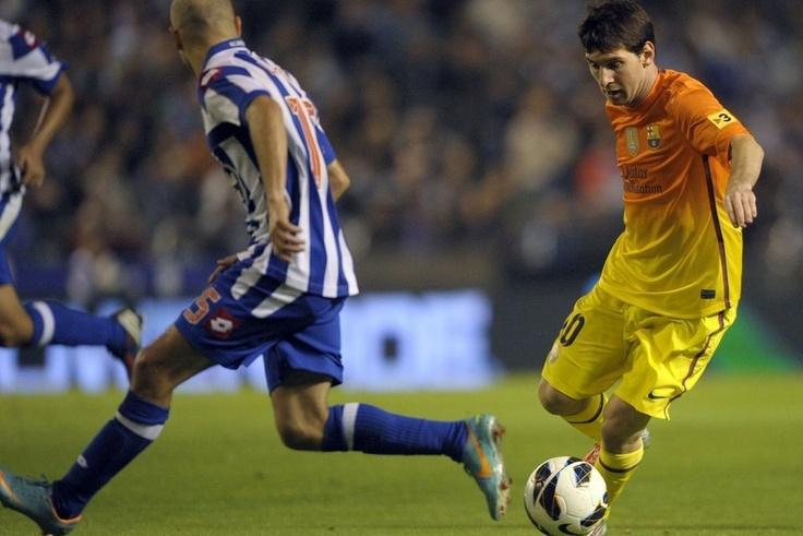 Leo Messi against deportivo Lionel messi, Messi