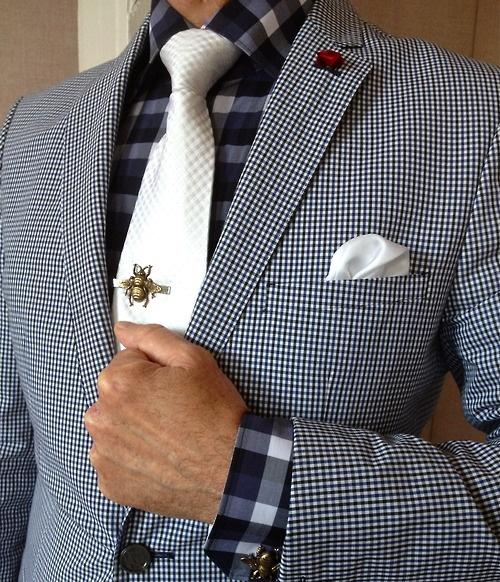 Zara suit - Simon Chang shirt - Bumble bee tie-clip & cufflinks - Tumblr
