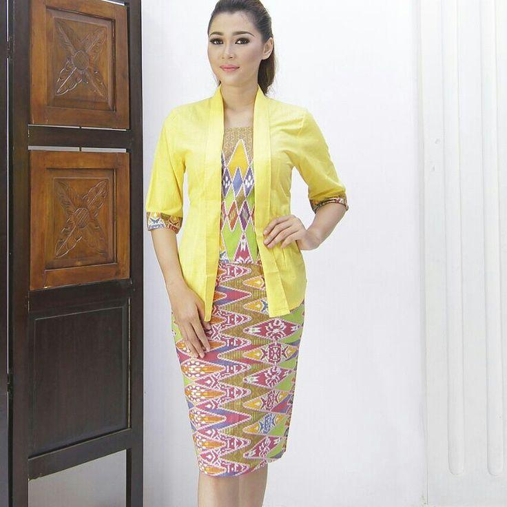 Yellow and black dress ukuran