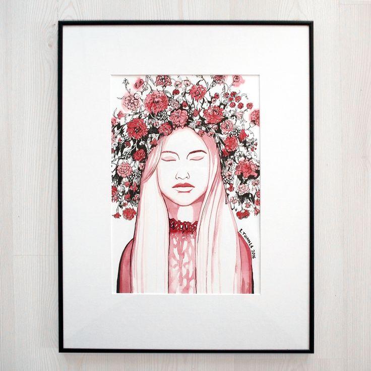 Work framed. #liisatuimala #watercolor #art