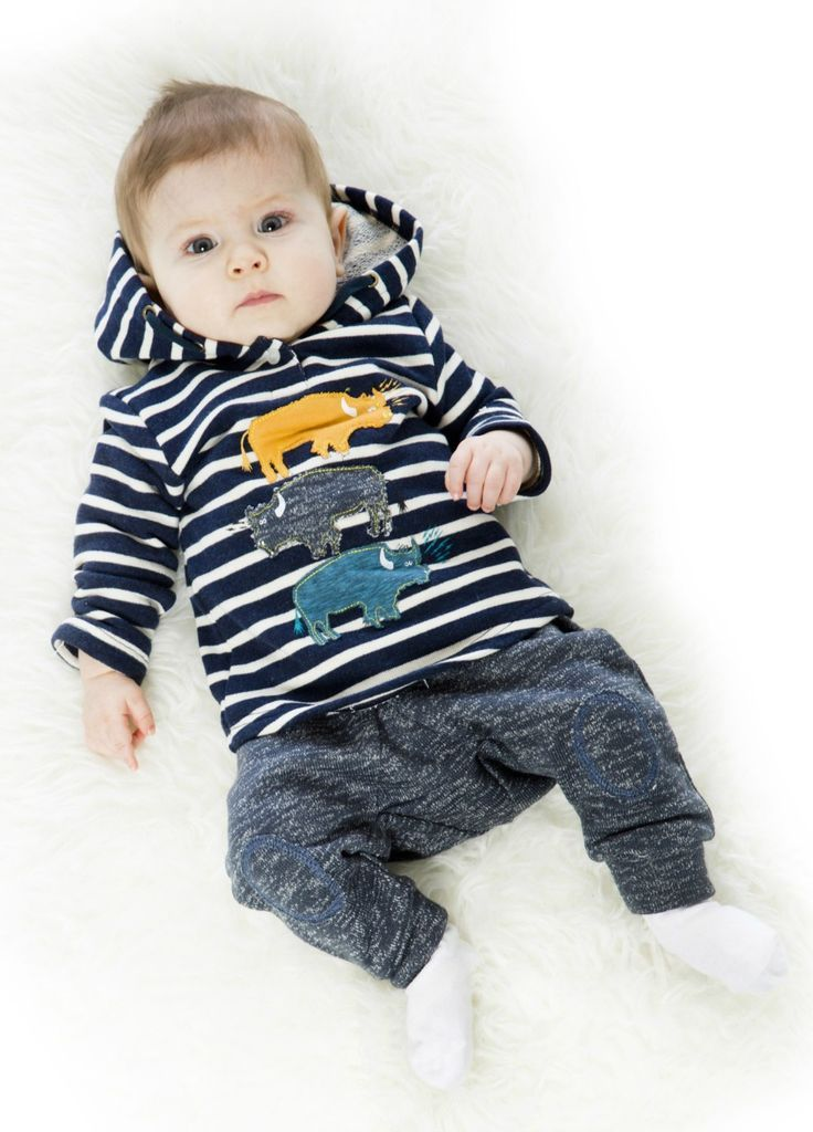 Featuring two-tone horizontal stripes and colorful buffalo appliques, the Navy Two-Piece Set boasts ultra-comfy style for every active little boy. Deux par Deux Official Site - Children's Designer Clothing
