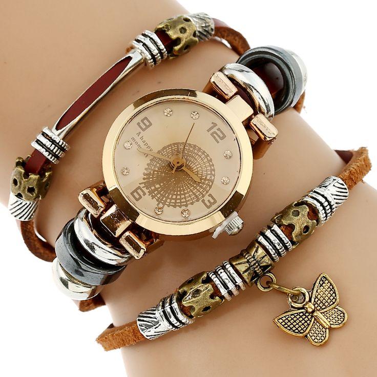 $4.99 (Buy here: https://alitems.com/g/1e8d114494ebda23ff8b16525dc3e8/?i=5&ulp=https%3A%2F%2Fwww.aliexpress.com%2Fitem%2FNEW-Women-Genuine-Leather-Watch-Triple-Bracelet-Watch-Butterfly-Charm-Wristwatch-Fashion-Reloj-Para-Dama-Watch%2F32400734494.html ) Genova Platinum NEW Women Genuine Leather Watch Triple Bracelet Watch Butterfly Charm Wristwatch Fashion Reloj Para Dama Watch for just $4.99