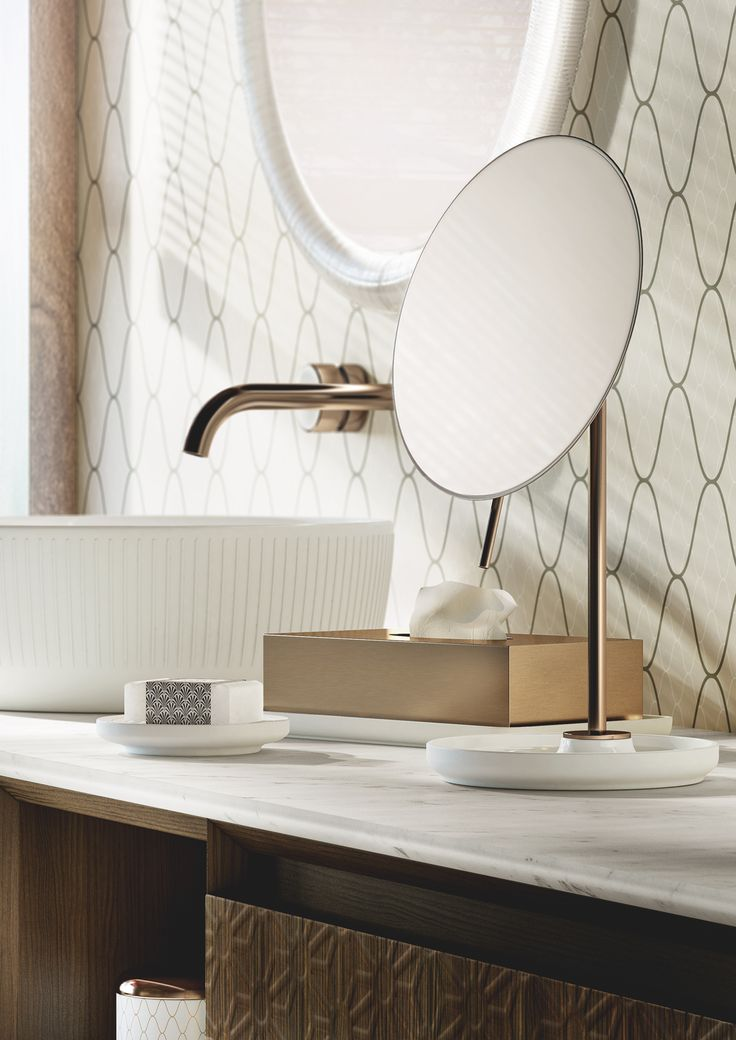Magnifying #mirrors. #Equilibrium collection. Designed by #edwardvanvlietofficial by #pomdorbathworld and #official_rosenthal .