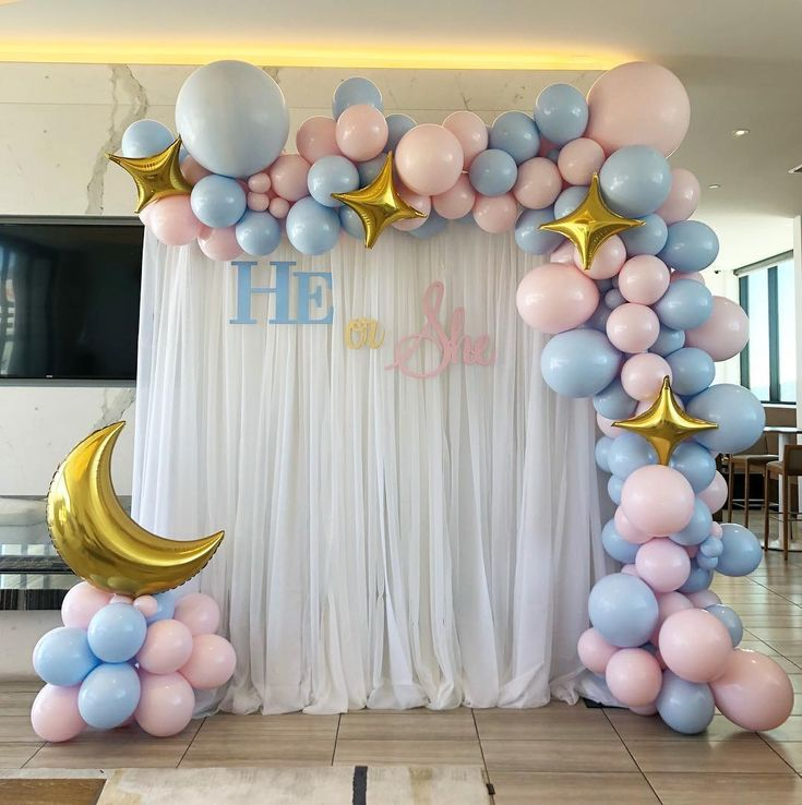 Baby gender reveal party for a beautiful mommy to be. #baby #babyboy #babygirl #…
