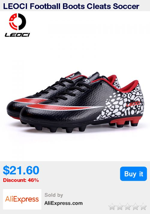 LEOCI Football Boots Cleats Soccer Shoes Mens Football Cleats Boot Chuteiras Botas De Futbol Voetbal Schoenen Women Adult & Kids * Pub Date: 08:25 Jul 7 2017