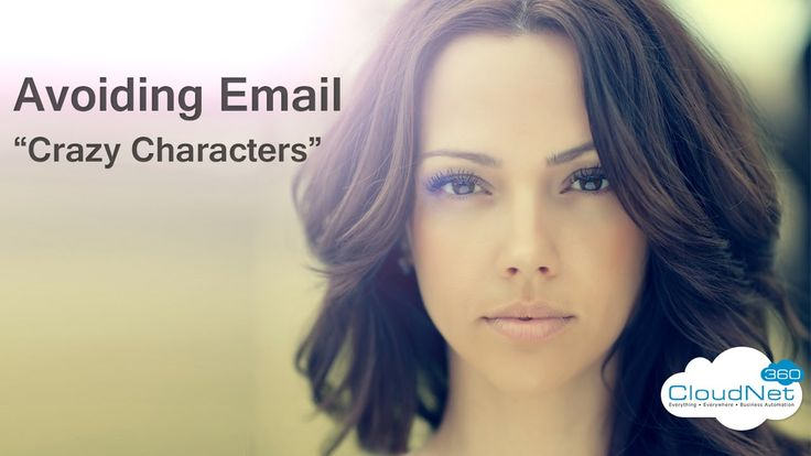 Avoiding Email Character Problems