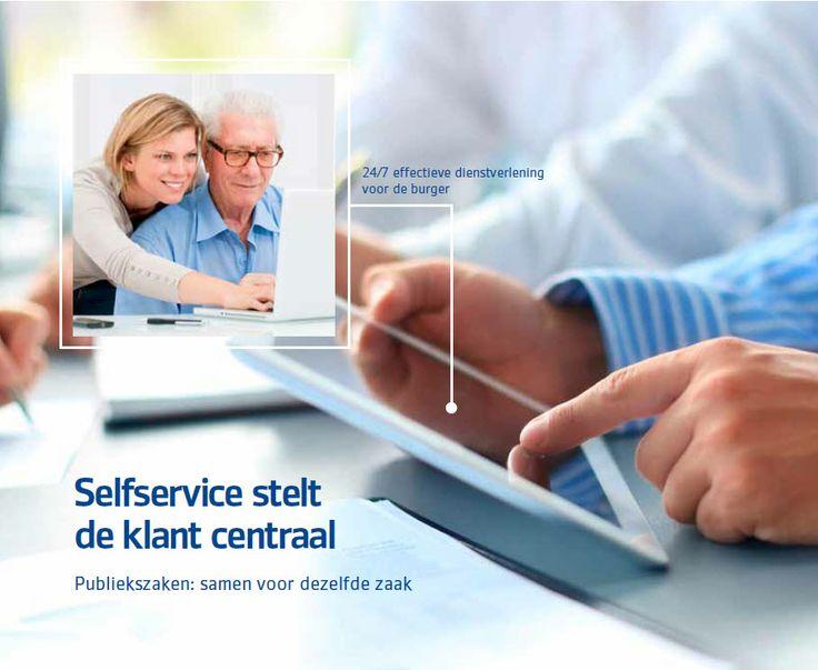 Selfservice stelt de klant centraal. Publiekzaken: samen voor dezelfde zaak. PinkRoccade Local Government