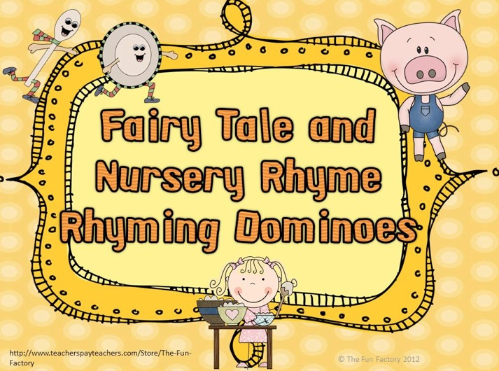 free language arts lesson fairy tale and nursery rhyme rhyming dominoes go to the best of. Black Bedroom Furniture Sets. Home Design Ideas
