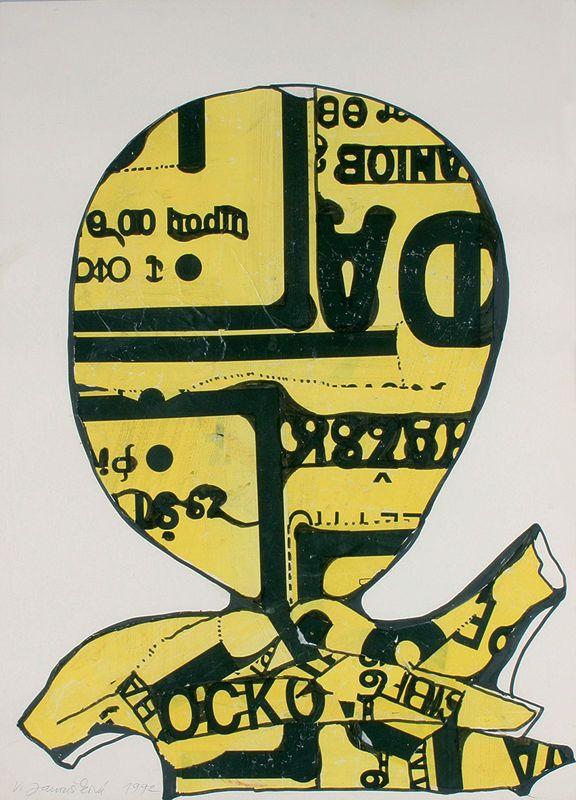 Janoušková Věra | Hlava I., 1992 | Aukce obrazů, starožitností | Aukční dům Sýpka