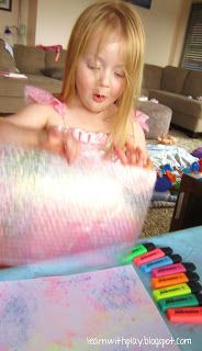 Learn with Play at Home: Drawing & Printing with Highlighters on Bubble wrap