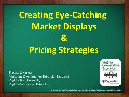 Farmers market display and pricing by vsuce, via Slideshare