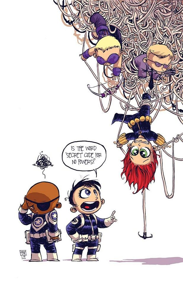 Secret Avengers #1 Variant by Skottie Young