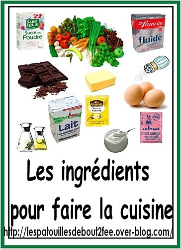 17 best images about activit s culinaires l 39 cole on for Vocabulaire de cuisine