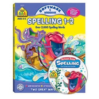 Spelling 1-2 Software And Workbook by School Zone Publishing. $9.13. SZP08223 The software takes children on a magical journey under the sea where each game provides unique spelling practice. With this software, your child will have the opportunity to spell over 2,000 first and second grade level words. Plus, your child can add words from his or her school spelling list to practice as well. A built-in tutor will adjust the level of difficulty to support your ch...