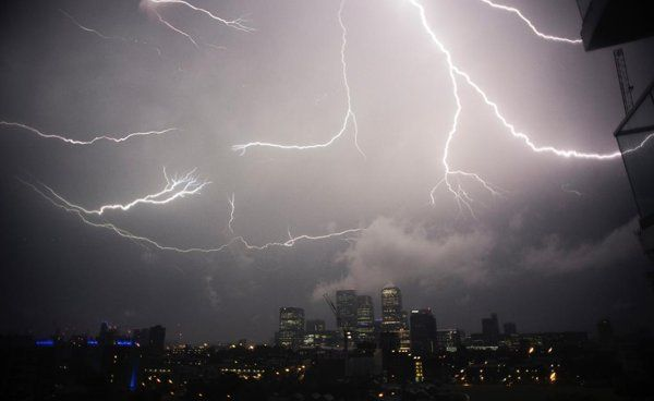 Electrical storms hit the UK after the hottest day of the year - with more thundery weather forecast for the weekend.