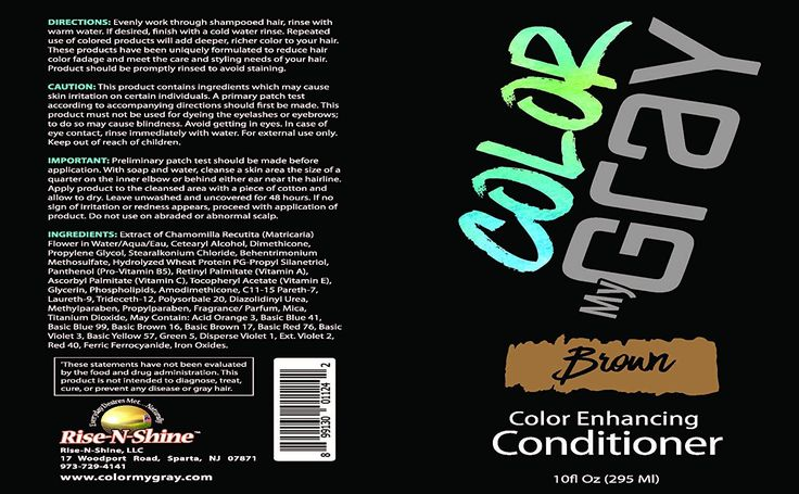 Color My Gray Conditioner - Hair Color-Depositing Conditioner For All Shades of Brown Hair #hairideas