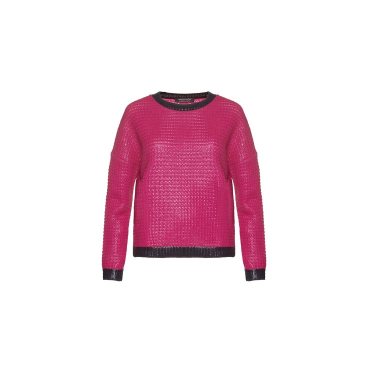 Naughty Dog #FW1415 pink laminated tricot pull.