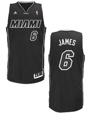 lebron james miami heat all black jersey