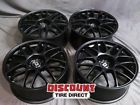 4 USED STAGGERED 19X8 & 19X8.5 5X120 DRAG DR37 BLACK WHEELS/RIMS