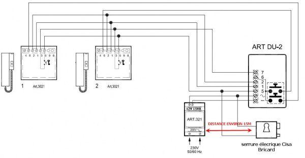 pb interphone marque videx avec serrure electrique 12va  4 messages