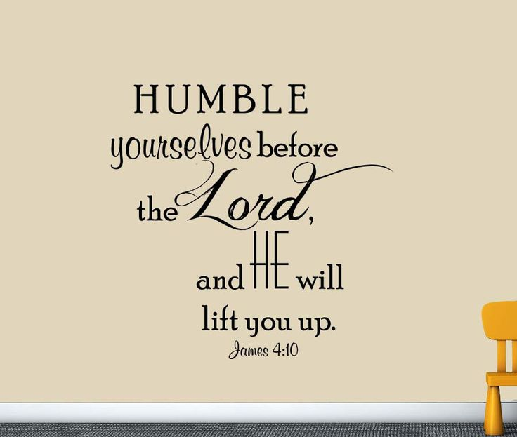 James 4:10 Christian Scripture Wall Decal
