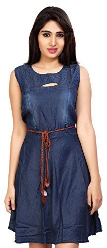 Carrel-Womens-Denim-Sleeveless-A-line-Short-DressAGSPL-3165Dark-BlueLarge