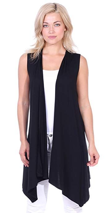 fc1d5921bc5cc Chic Popana Womens Casual Sleeveless Long Duster Cardigan Summer Vest Made  in USA online.   18.99  findanew from top store
