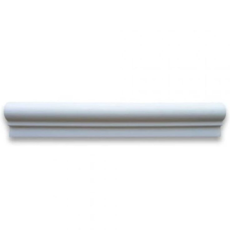 Shop For Chair Rail White Thassos Polished 2x12 Marble ... |Thassos Marble 2x12