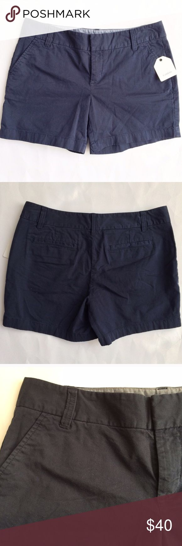 """Nordstrom CASLON Navy blue Chino Shorts NWT Brand new with tags. Zipper and tab closure. Navy blue. Waist 15.5"""". Inseam 4.5"""". Cotton and spandex. Caslon Shorts"""