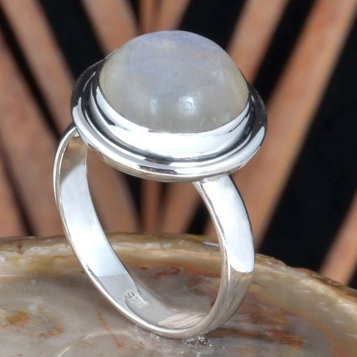 925 SOLID STERLING SILVER RAINBOW MOONSTONE EXCLUSIVE RING 6.22g R11475 SZ-9 #Handmade #Ring