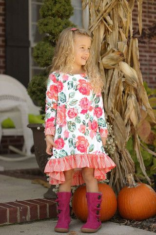 girls woven long sleeve top pdf
